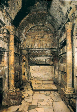 Crypt of the Popes. St.Callistus Catacumbs ROME