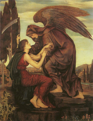 "Evelyn De Morgan (1855-1919) ""Angel of Death"""